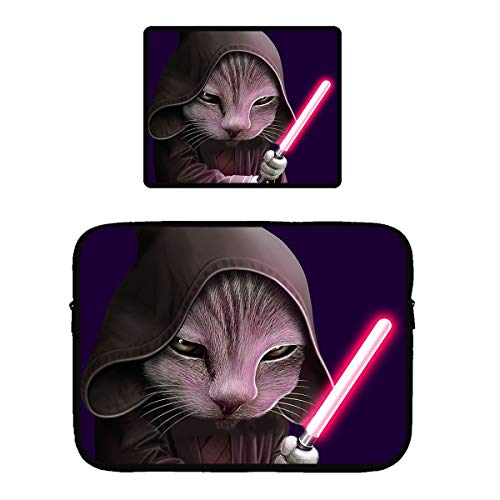 Beach Surfers The Chosen One Cats Gaming Mouse Pad & Laptop Sleeve Bag Case Protector Computer Bag Case Mousepad for 13 Inch