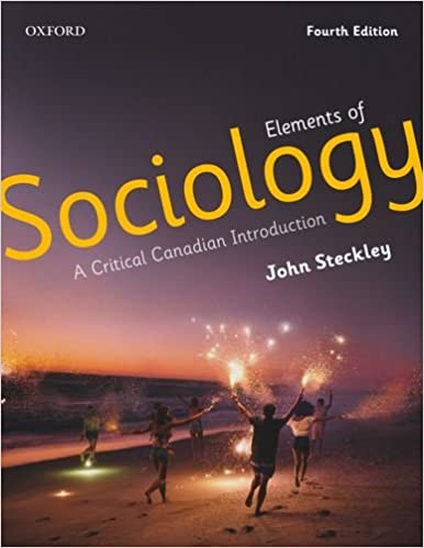 A Critical Canadian Introduction Elements of Sociology