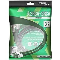 Cabo 2 Rca para 2 Rca 2 metros Chip Sce para Áudio e Vídeo 018-0740