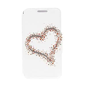 Kinston Big and Small Hearts Pattern PU Leather Full Body Case with Stand for HTC Desire 816