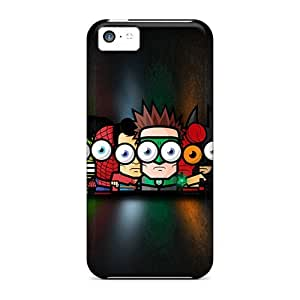 High Grade Saraumes Flexible Tpu Case For Iphone 5c - Big Eyes Heroes