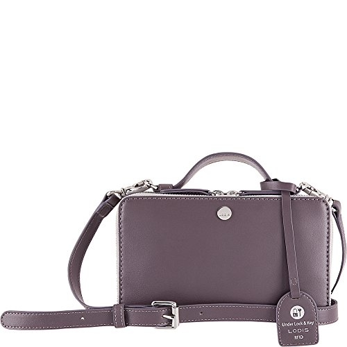 Lodis Downtown RFID Sally Zip Around Crossbody (Cement/Lava) by Lodis