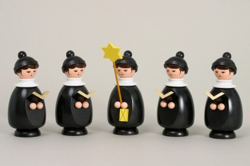 Zeidler Five Member Christmas Singers Figurine Made in Germany by Zeidler
