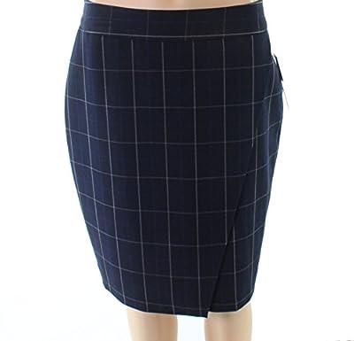 Amanda + Chelsea Plaid Women's Straight Pencil Skirt
