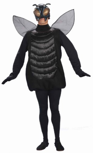 Adult Fly Costumes (Forum Novelties Men's Creepy Fly Adult Costume and Mask, Black, Standard)