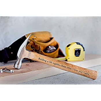 Personalized Dad Gifts from Daughter - Engraved Hammer Christmas Gift for Fathers and Grandpa ...