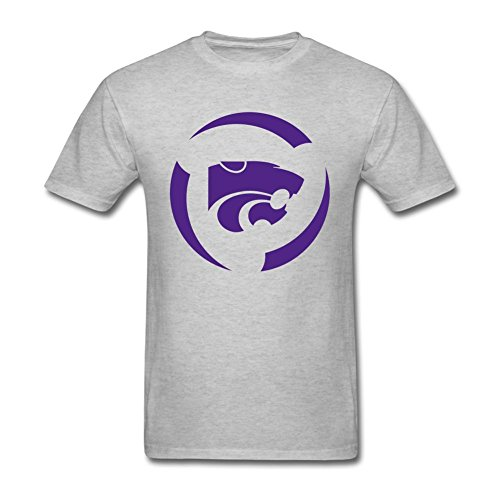 Reder Men's Kansas State T-Shirt M Grey (Mens Fieldhouse Tee)