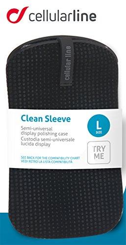 CELLULAR LINE Universelle Nubukschutzhülle für Apple iPhone/Smartphone schwarz/rhombus
