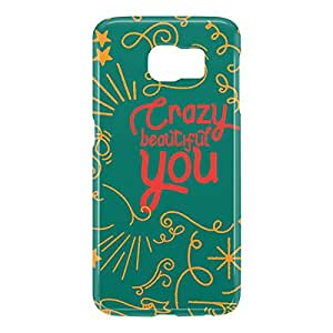 Loud Universe Samsung Galaxy S6 3D Wrap Around Crazy Beautiful You Print Cover - Green