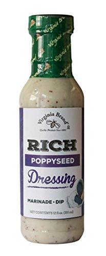 Virginia Brand Rich Poppy Seed Dressing , 12 Ounce Bottle (Pack of 6)