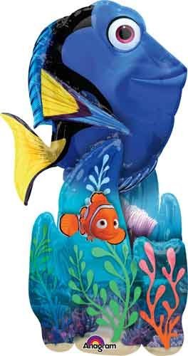 55'' FInding Dory AirWalker Shape Balloons - Pack of 5 by Single Source Party Supplies