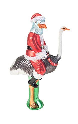 Santa Pigeon on Ostrich Tree Topper