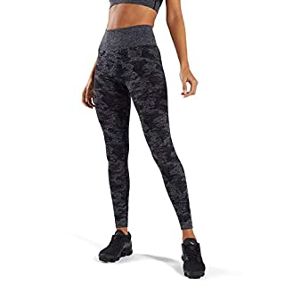 MOYOOGA Camo Seamless Leggings High Waist Workout Leggings for Women Gym Yoga Pants (Medium, Black)