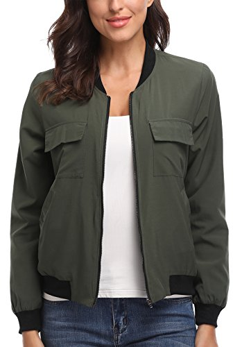 MISS MOLY Blouson - Femme Army Green(with Lined)