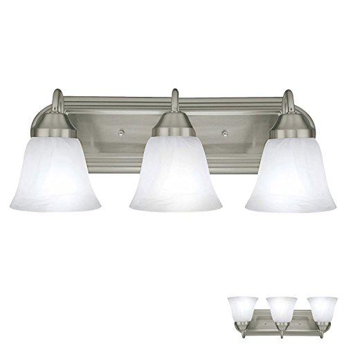 - Three Globe Bathroom Vanity Light Bar Bath Fixture