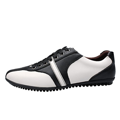 Men's Retro Fashion Soft Breathable Sneakers Casual British Genuine Leather Driving Shoes