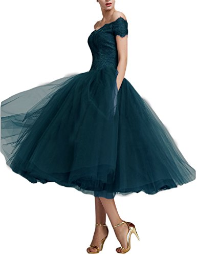 Monalia Womens's Tea Length Tulle Prom Dresses Formal Gowns Size 22 Teal