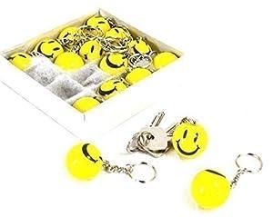 Gelber Smiley Schlüssel Anhänger Schlüsselzubehör