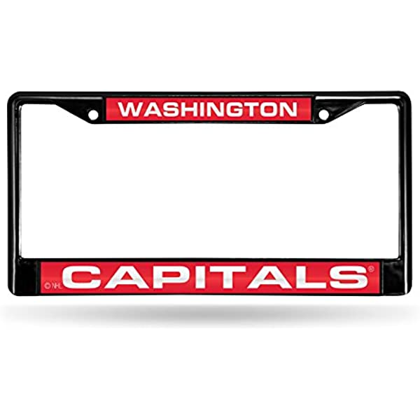 NHL Laser-Cut Chrome License Plate Frame