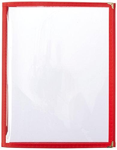 Winco Triple Fold Menu Cover, 12-Inch x 9.5-Inch, Red