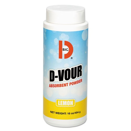 Big D BGD 166 16 oz Lemon Fragrance D-Vour Absorbent Powder