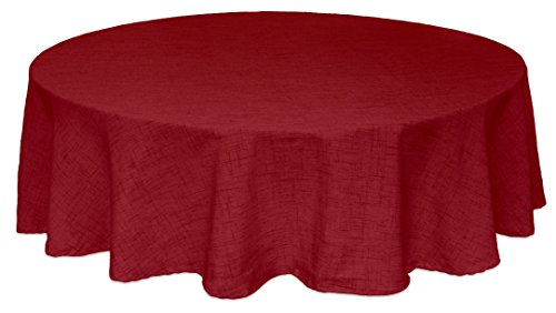 "Bardwil Linens Brussels 60""x84"" Oval Tablecloth, Scarlet"