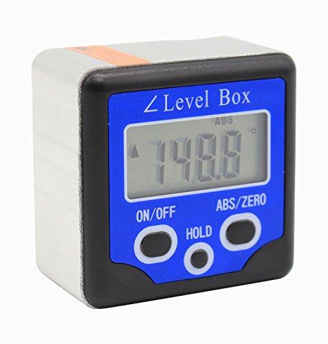 Waterproof Digital Protractor Level Angle Finder Digital Level Box Measurement Measuring Tools Bevel Inclinometer Magnetic Base with Blacklight by WONDERSUNM