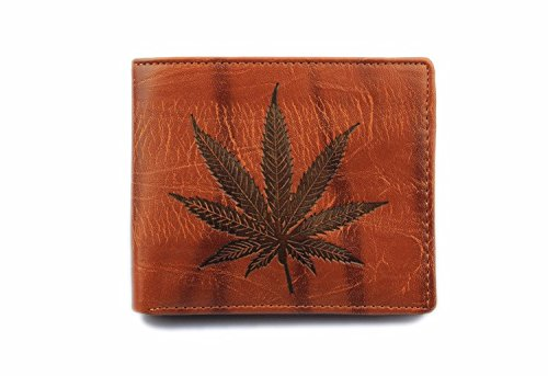 Lucrative shop Maple Leaf Men Wallets Fashion Small Leather Wallet Hot Sale Dollar Purse (Maple Valuable Box)