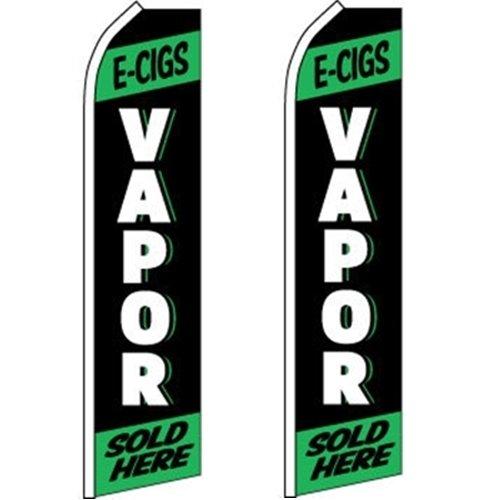 2 Swooper Flutter Feather Flag E-CIGS VAPOR SOLD HERE Black White Green
