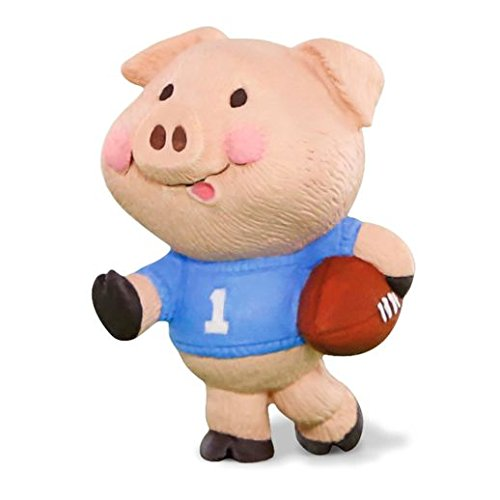 (Hallmark Merry Miniatures Football Season Pig Figurine)