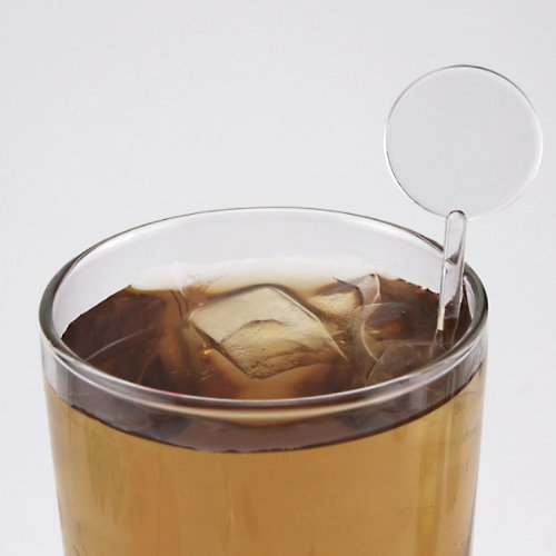 Disk Top Cocktail Drink Stirrers - 7 Inches Long - Clear - Bag of 250 by KegWorks (Image #1)