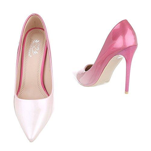 Design Ital chaussures 5015 Rosa 60c compensées femme BHUHT4qd