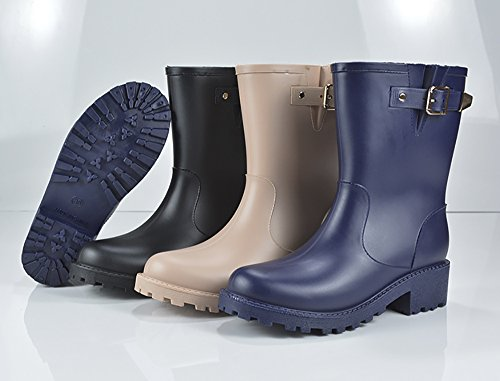 Women's Shoes Half Rain slip Rubber Anti Waterproof Blue 2 Boots Martin Rain aRwraHq