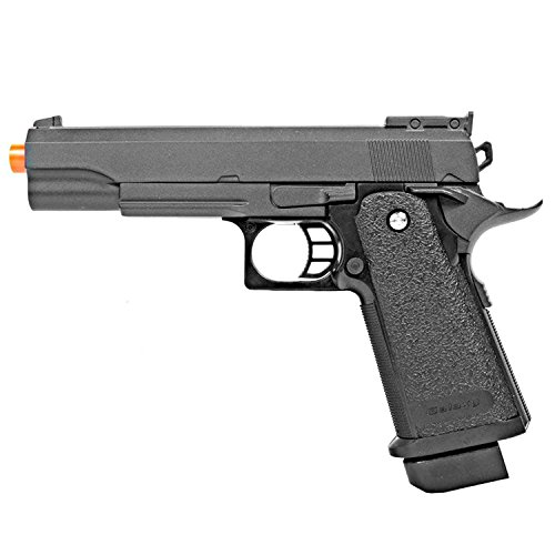 25 Spring Powered Airsoft Pistol (BBTac Airsoft Pistol 1911 G6 Airsoft Gun Spring Powered 300 FPS, Metal Alloy Construction)