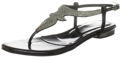 Unze Evening Sandals L18493W - Sandalias para mujer Negro