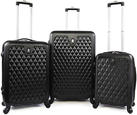 Pacific Coast Signature Pandora Hardside Rolling Luggage Set, Black, One Size
