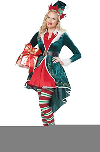 [8eighteen Santa Helper Workshop Elf Christmas Dress Adult Women Costume] (Pharaoh Adult Mens Plus Size Costumes)