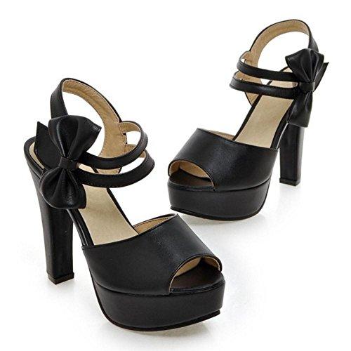 Women Black Toe CarziCuzin Peep Sandals Shoes qnCCUdf