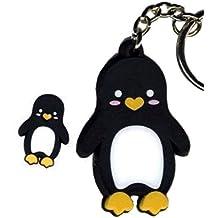Krisgoat Penguin Designed, Officially Licensed Artwork - Rubber Keychain