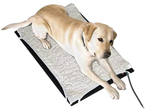 Farm Innovators Model HM-80M Medium 17-Inch by 24-Inch Plastic Heated Pet Mat with Fleece Cover, 70-Watt