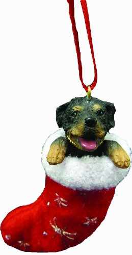 Rottweiler Christmas Stocking Ornament with