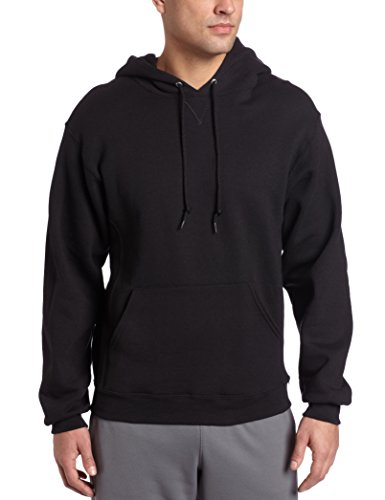 Russell Athletic Men's Dri-Power Pullover Fleece Hoodie, Black, XXX-Large Big And Tall Fleece Sweatshirt