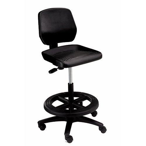 Office Master WS23 Workstool w/ Footring & Casters (21''-31'' H)