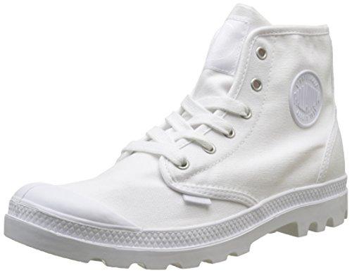 Palladium Pampa Hi, Sneaker a Collo Alto Uomo Bianco (White/White 924)