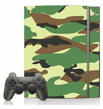 Green Camo Skin for Sony Playstation 3 Console