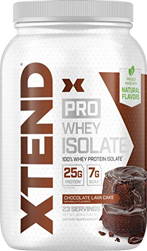 Scivation Xtend Pro 100% Whey Protein Isolate Powder with 7g BCAA & Natural Flavors, Keto Friendly, Gluten Free Low Carb Low Fat Protein Powder, Chocolate Lava Cake, 1.8 lbs