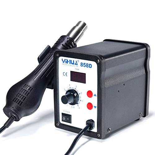 MMOBIEL Yihua 858D Hot-Air Soldering Rework SMD Station incl 3 nozzles 100°C up to 500°C