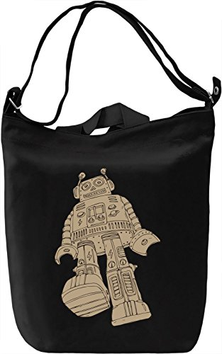 Robot Borsa Giornaliera Canvas Canvas Day Bag| 100% Premium Cotton Canvas| DTG Printing|