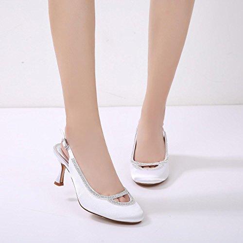 de Pie YC Las Imitación Bombas Mujeres Personalizados Satinado Cerrado Zapatos de Diamantes Boda Boda del L Noche Dedo del Chunky Purple F17061 de 29 xZtPwA