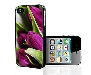 Purple Tulips Hard Snap on Case (iPhone 5/5s)